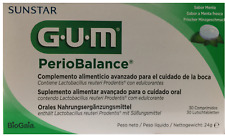 GUM SUNSTAR PERIOBALANCE PROBIOTIC 30 TAB X 2 PACK 60 TAB FREE SHIPPING