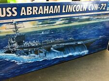 trumpeter 1/700 05732 uss abraham lincoln cvn-72 model ship kit conts sealed