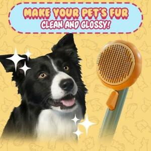 Dog Cat Brush Grooming Slicker Self Cleaning Massage Hair Remover