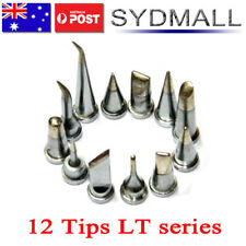 12PCs Solder Soldering Station Iron Tips LT FOR Weller WSD80 WSP80 WSD130 WSD150