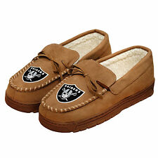 Forever Collectibles NFL NEW Oakland Raiders Mens Moccasins Slippers
