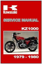 KAWASAKI Workshop Manual KZ1000 Z1000 Z1R MkII 1978 1979 & 1980 Service & Repair