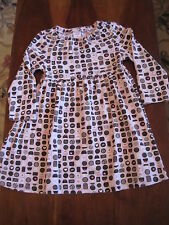 Gymboree Girl Pink Brown Sweeter Than Chocolate Candy Cotton Dress 4T EUC