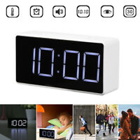 LED Digital Alarm Clock with USB Port Snooze Table Clock ABS Electronic Clock