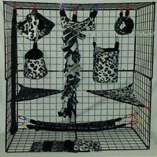 Ombre Cheetah Grey*15 PC Sugar Glider Cage set * Rat * double layer Fleece