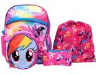 """MY LITTLE PONY RAINBOW 16"""" 5-Pc. Backpack Set  Insulated Lunch Bag  Bottle 40"""