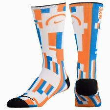 new style 7dce2 56b03 NIKE HYPERLOCAL NYC New York Basketball Crew Socks Orange   Blue Mens 12-15  XL