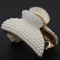 Haarklammer Haargreifer mit Perlen Haarspange Pferdeschwanz Perlen