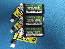 3 NANO-TECH 300mAh 1S 3.7V LIPO BATTERY SYMA X11 X11C S107 HUBSAN X4 250MAH RC