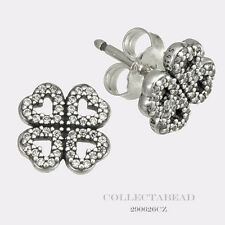 Authentic Pandora Sterling Silver Petals Of Love Clear CZ Earrings 290626CZ