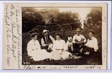 Blume Real Photo Postcard RPPC Men and Women with Carriage & Pit Pitt Bull Dog