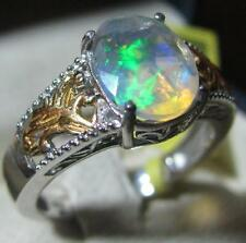 EXCELLENT ETHIOPIAN WELO OPAL 14K YGOLD OVER STERLING RING SZ 8