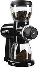 New KitchenAid KCG0702OB Burr Coffee Grinder stainless steel burr Onyx Black