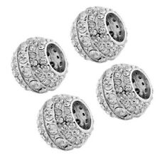 4Pcs Rhinestone Charms Diamond Bling Car SUV Crystal Headrest Collars Decoration