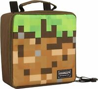 Minecraft lunch box Dirt Block Insulated pixel Kids boys School Lunch Box NEW