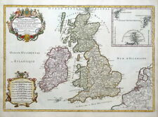 BRITISH ISLES, UK, BRITAIN, Hubert Jaillot original antique map c1695