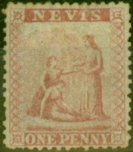 Nevis 1862 1d Dull Lake SG1 Fine Unused