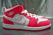 Nike Air Jordan 1 Mid PS PreSchool Hyper Pink White 640737 611 Size 3Y
