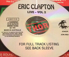 Eric Clapton Live Vol. 2 Aust. CD Super Rare Crossroads Tearing Us Apart Cream