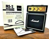 `Marshall MS-2 Standard 1-watt Battery-powered Micro 1/2 stack Guitar Amp Black