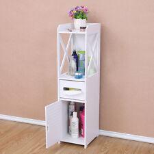 Blanc Armoire de salle de bain/ toilette Étagère de toilette rangement de meuble