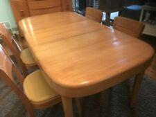 Heywood Wakefield Blonde Dining Table Circa 1950 with Four Chairs