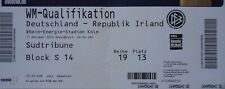TICKET blue World Cup Qualifying 11/10/2013 Germany vs. Ireland
