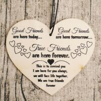 Good Friends Great Friends Plaque Sign Best Friend Gift Shabby Chic Heart