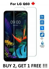 For LG Q60 (LMX525WA) -  Tempered Glass 9H Hard Screen Protector Cover