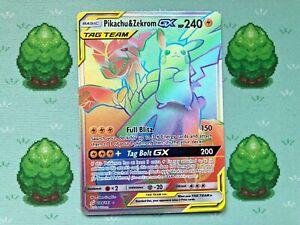 Pokemon - Pikachu & Zekrom GX - 184/181 - SM Team Up - Secret Rare
