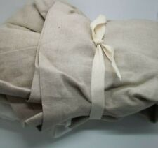 "Pottery Barn Kids Linen Bedskirt Pleated 18"" Drop Tan #1334"