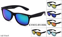 Retro Vintage Sunglasses Flash Mirror Lens Matte Rubber Frame RB 2132 Style w/UV