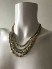 """Designer """"Guess"""" Gold Colour Layered Chain Necklace"""