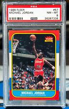 1986 Fleer 57 Michael Jordan RC Rookie PSA 8 NM-MT GOAT HOF Undergraded?