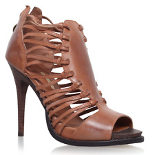 Max Studio Eliot Camel Leather Mid Heel Sandals rrp £150 UK 6.5 EU 40 LN02 79