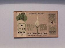 Melbourne Olympic Games 1956 Unused Freestyle Wrestling Ticket Nov 28
