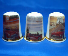Birchcroft Thimbles -- Set of Three -- Motor Posters Route 66