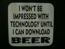 Beer  Decal Sticker, Fridge,Vinyl Graphic Funny, Tecnology
