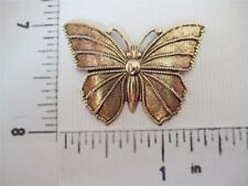 "1-1/2"" Victorian Butterfly Jewelry Finding 35143 2 Pc Brass Oxidized"