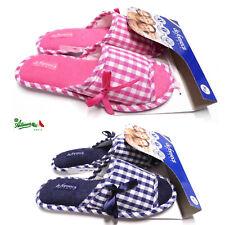 Ciabatte pantofole DE FONSECA donna cotone estive aperte gomma BARI TOP W508