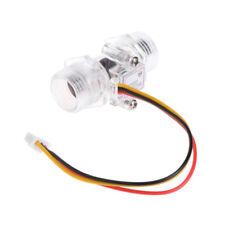 "Water Flow Sensor G1/2"" Fluid Flow Meter Water Control Transparent Enclosure"