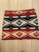 RED CREAM BLUE AZTEC SKIRT TOPSHOP 10 WINTER SUMMER TOWIE SMART XMAS CASUAL FIT