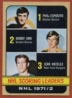 1972-73 Topps #63 Bobby Orr Near Mint / Mint Phil Esposito Jean Ratelle Bruins