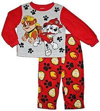 Paw Patrol Boys Toddler Marshall & Rubble 2 Piece Long Sleeve Fleece Pajama Set