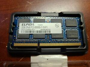 Elpida 2GB 2Rx8 PC3-8500s-7-10-F1 Preowned