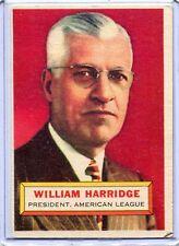 1956 Topps Baseball Card William Harrison W/B President American League EXMT # 1