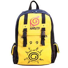 New Anime Naruto Konoha Pu Backpack Boy Girl School Bag Sport Outdoor Travel Bag
