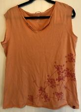 New With Tags The North Face Catch a Fire Tee Size Large Orange Cotton W/ Print