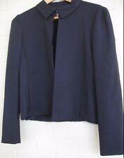 GENNY Italian High End Coordinate Suit Jacket Navy Blue NWT $475 Sz IT 44~US 10