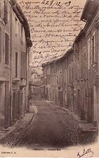 ORGON grande rue timbrée 1903